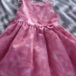 Pink Butterfly Dress  Size 7
